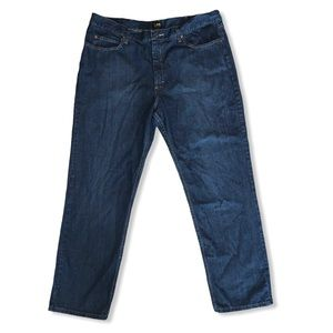 LEE RELAXED FIT STRAIGHT LEG JEANS 40x32 BLUE